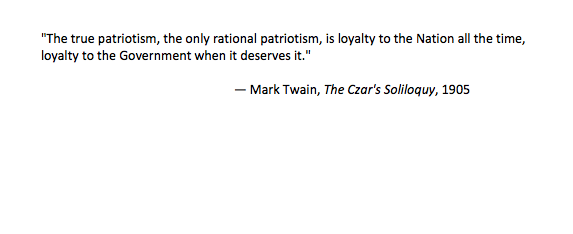 Mark Twain on Patriotism
